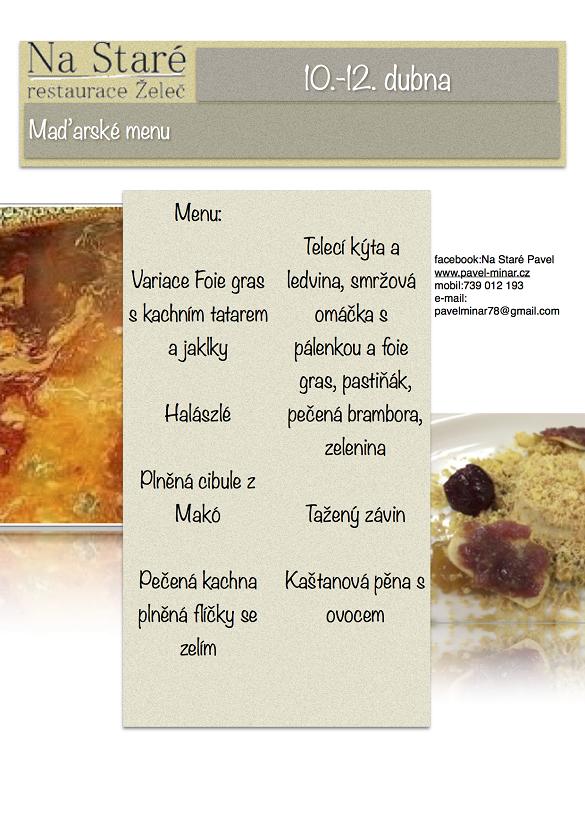 Maďarské menu