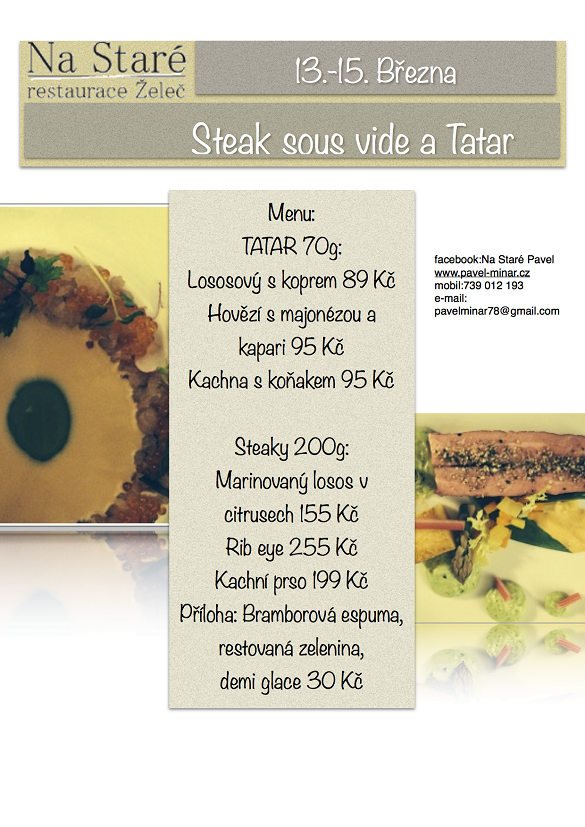 Steak sous vide a Tatar