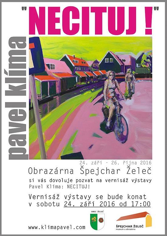 "Vernisáž výstavy - Pavel Klíma ""Necituj!"""