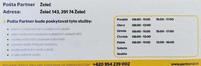 Nová Pošta Partner otevírá 1.6.2021