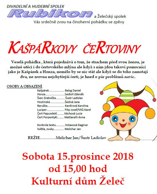 Pohádka pro děti Kašpárkovi čertoviny