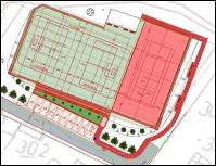 Návrh architektonického řešení sportovního areálu v Želči