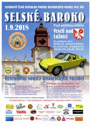 Soutěž historických vozidel SELSKÉ BAROKO