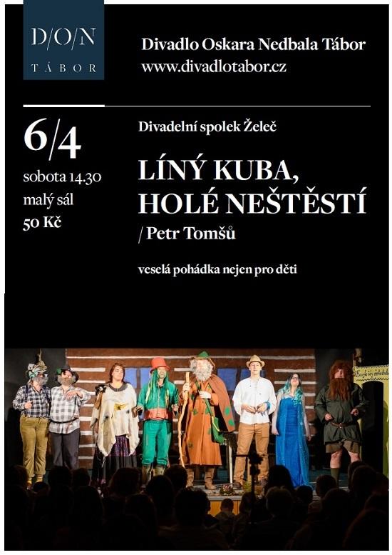 """""""Líný Kuba ..."""" míří do Divadla Oskara Nedbala v Táboře"""