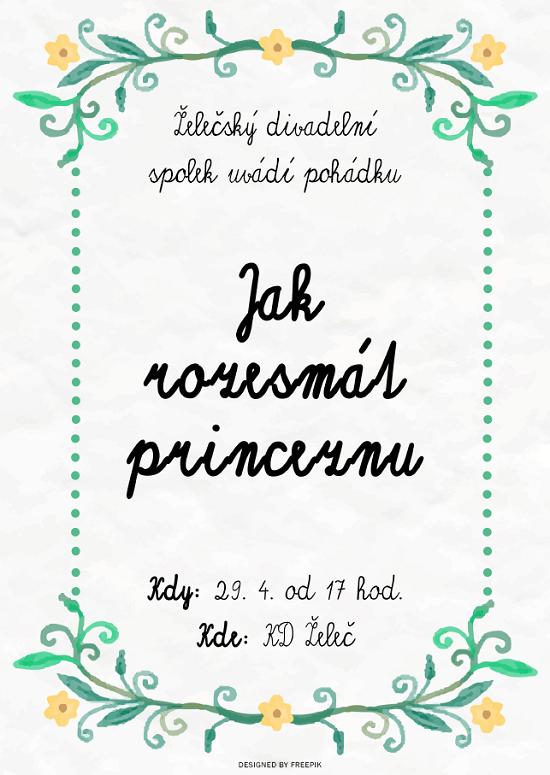 Pozvánka na pohádku Jak rozesmát princeznu