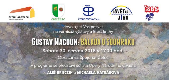Vernisáž výstavy Gustava Macouna - Balada o soumraku