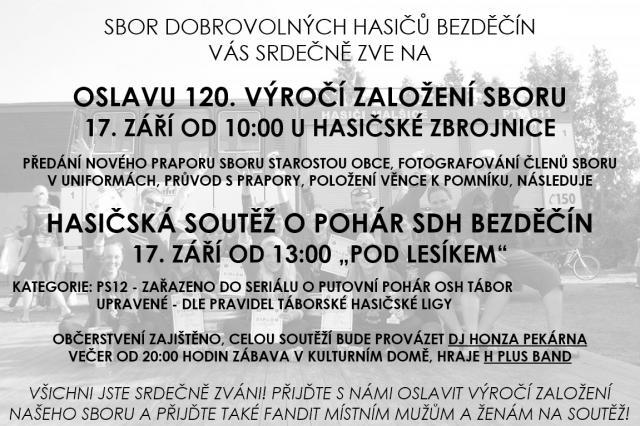 Oslava 120. výročí založení SDH Bedzěčín