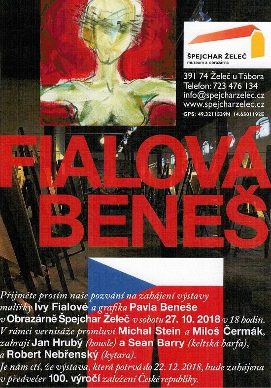 Vernisáž výstavy malířky Ivy Fialové a grafika Pavla Beneše