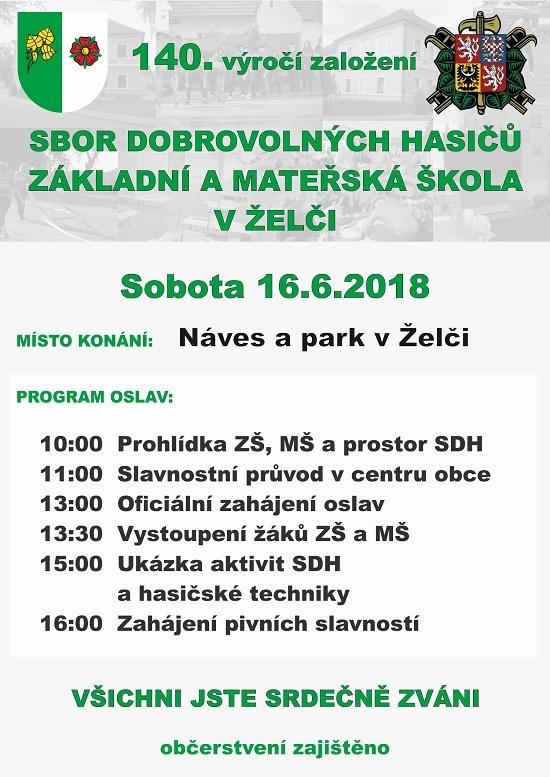 Oslavy 140. výročí založení SDH a ZŠ a MŠ v Želči