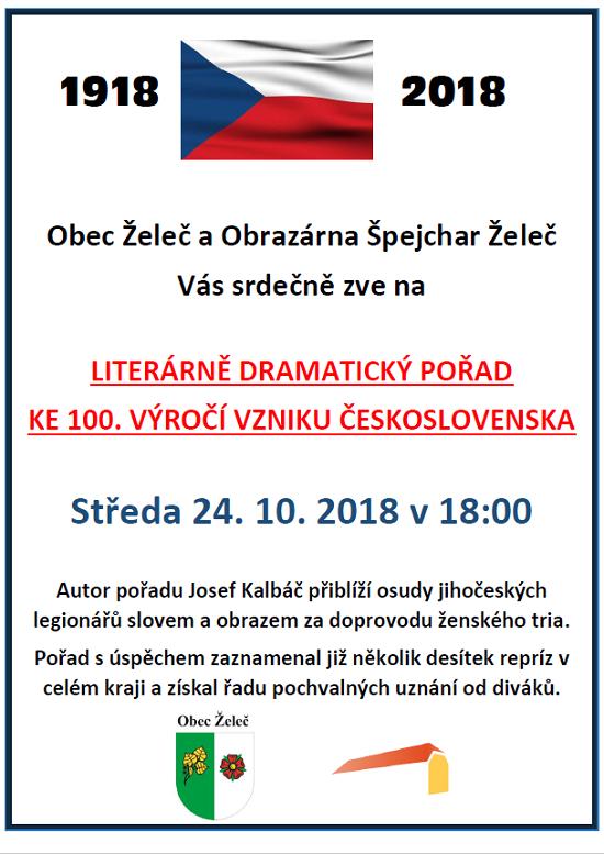 Literárně-dramatický pořad k oslavě 100. výročí vzniku Československa
