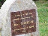 Odhalení pamětní desky Josefa Langmilera